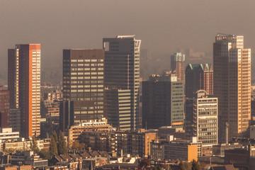 Photo sur Aluminium Rotterdam Rotterdam skyline