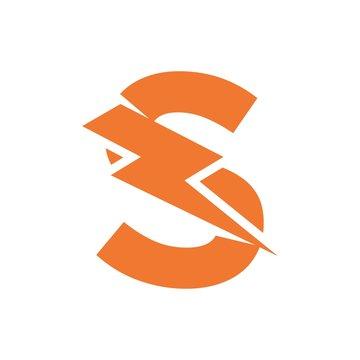Letter S thunder power shape logo icon. Electrical Icon logo concept.