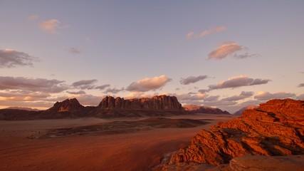 Foto auf AluDibond Lavendel Wadi Rum