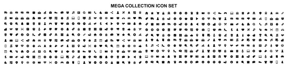 Mega set of icons in trendy line style. Business, ecommerce, finance, accounting. Big set Icons collection. Vector illustration Fototapete