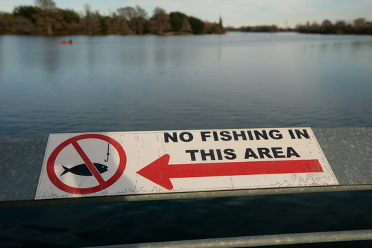 Fishing is prohibited in the lakes and rivers around Austin, Texas