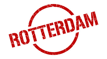 Photo sur Aluminium Rotterdam Rotterdam stamp. Rotterdam grunge round isolated sign