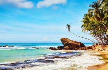 Tropical beach, summer vacation concept, Sri Lanka. Wall mural