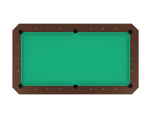 Billiard Table Isolated