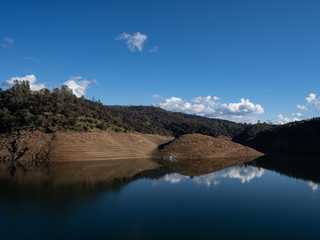 Lake Oroville On a Partly Cloudy Day