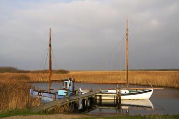 Boote am Ringköbing Fjord