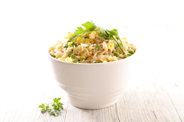 fried rice with vegetable and chicken