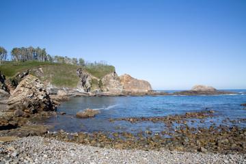Bay at Pormenande Beach; Asturias