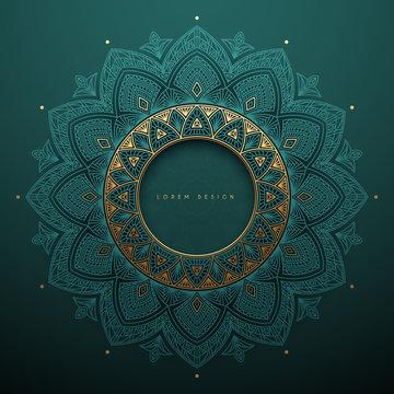 Elegant ornamental round decoration template background