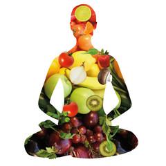 Ernährung, Fitness, Yoga, Lotussitz