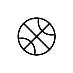 Basketball ball outline icon. Clipart image isolated on white background