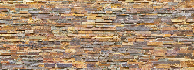 Perfect clinker brick facade, patterned, close-up