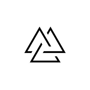 Viking Valknut simple icon. Clipart image isolated on white background