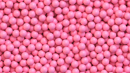 Pink candy balls. Realistic vector background Fototapete