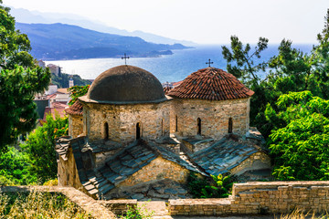 Old Byzantine church Ai Giannakis at Vathi village, Samos island