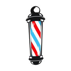 Barber shop pole vector illustration