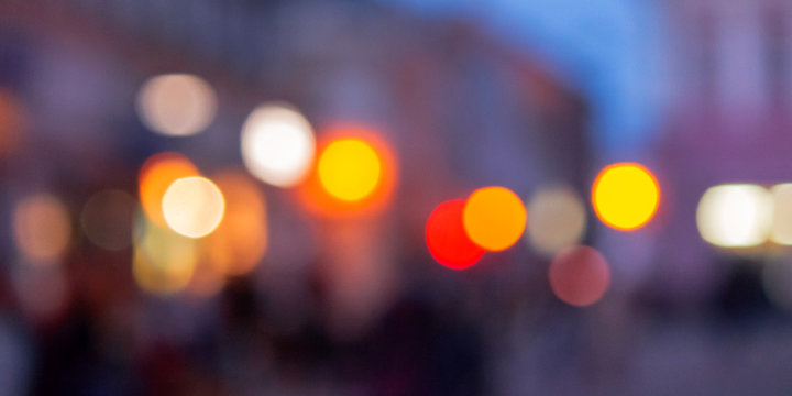 street background blur. city abstraction with bokeh effect