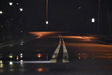 Tuinposter Nacht snelweg traffic at night