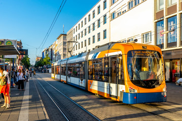 Strassenbahn, Mannheim, Deutschland  Fototapete