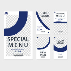 Social Media Promotion template Bundle for Food and Culinary Theme. Also you can use for flyer and Brochure.
