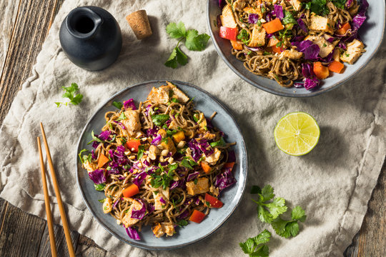 Homemade Spicy Chicken Soba Noodle Salad