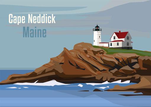 The Cape Neddick Light, York, Maine