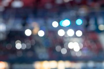 no focus, blurry. Soft focus. Professional arena for sports. Bright light spotlights. Fototapete