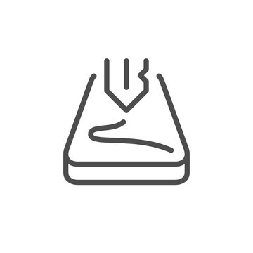 Screen scratch protection line icon