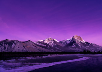 Photo sur Plexiglas Violet Jasper national park