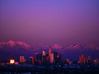 LA Downtown Alpenglow Fotomurales