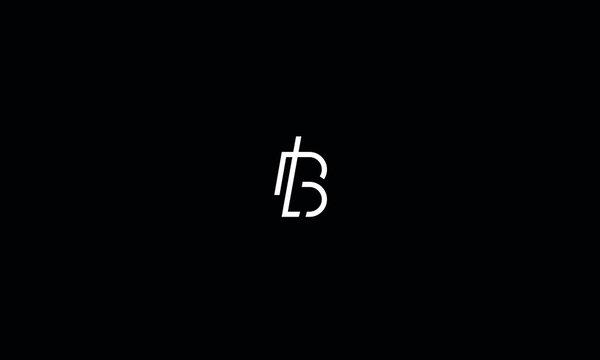 Alphabet letter monogram icon logo BL or LB