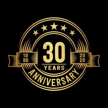 30 years anniversary celebration logotype. Vector and illustration.
