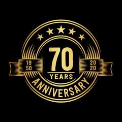 70 years anniversary celebration logotype. Vector and illustration.