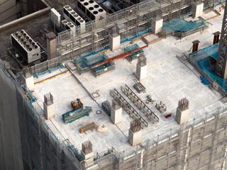 Fototapete - 建設中の高層ビル