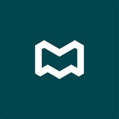 simple initial leter m logo