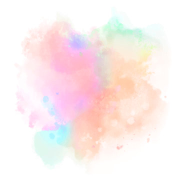 abstract colorful splashes on white background