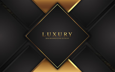 modern luxury background vector overlap layer on dark and shadow black space with abstract style for design. graphic illustration Texture with line golden Sparkles glitters dots element decoration.