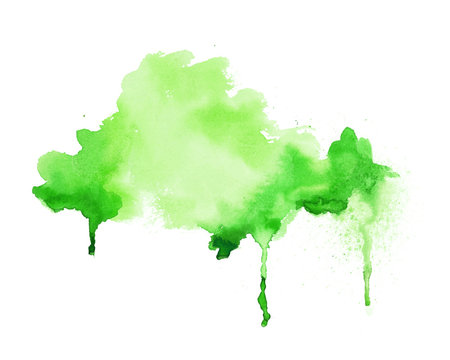 bright green watercolor hand painted texture background