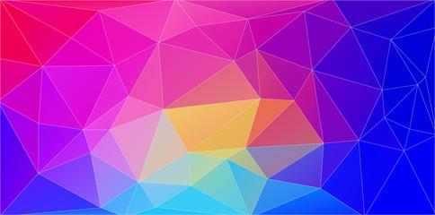Flat multicolor triangle geometric wallpaper. Vector background