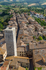 View to the historic centre of San Gimignano town, Italy