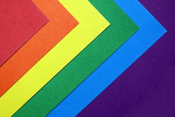 Texture vibrant multicolored colors gay symbol lined with paper