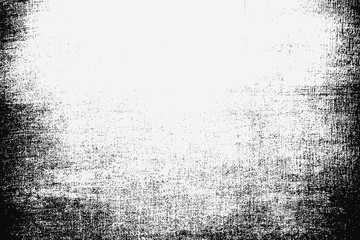 Fotobehang - White and black grunge background.Old texture.