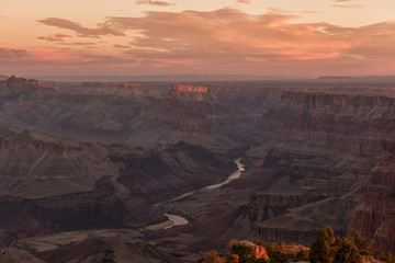 Foto op Plexiglas Zalm Sunrise in Grand Canyon