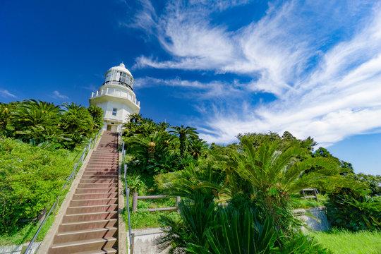 宮崎の都井岬灯台