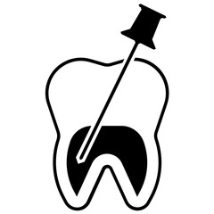 Root Canal Therapy Vector, Dental Care Icon Design