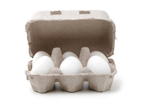 White egg - isolated on white background