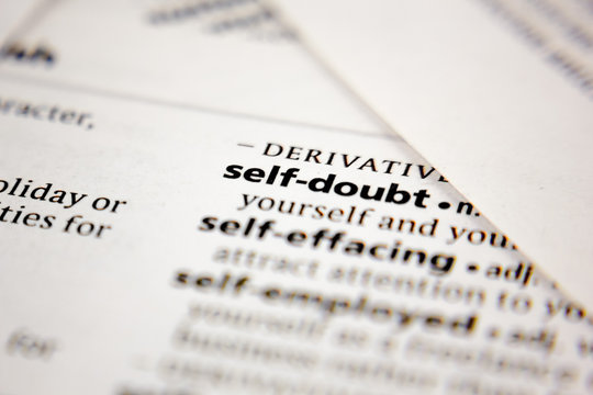 Word or phrase self-doubt in a dictionary.