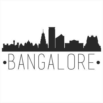Bangalore India. City Skyline. Silhouette City. Design Vector. Famous Monuments.