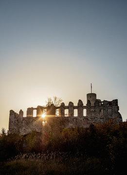Rabsztyn Castle Ruins, Trail of the Eagles' Nests, Krakow-Czestochowa Upland or Polish Jurassic Highland, Lesser Poland Voivodeship, Poland