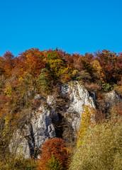 Jurassic Rocks in Ojcow, Ojcow National Park, Krakow-Czestochowa Upland or Polish Jurassic Highland, Lesser Poland Voivodeship, Poland